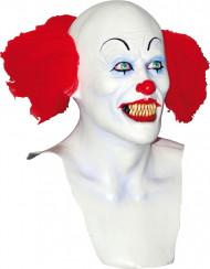 Maschera clown bianco spaventoso adulto Halloween