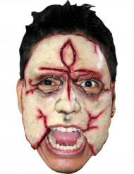 Maschera killer con croce adulto Halloween