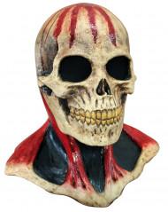 Maschera scheletro macchiato di sangue adulto Halloween