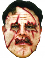 Maschera assassino viso tagliato adulti Halloween