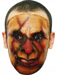 Maschera assassino viso tagliuzzato adulti Halloween