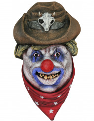 Maschera clown cowboy adulti Halloween