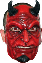 Maschera diavolo con corna adulti Halloween