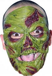 Maschera zombie verde adulti Halloween