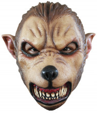 Maschera lupo feroce adulti Halloween