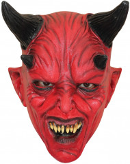 Maschera diavolo rosso adulto Halloween