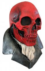 Maschera teschio rosso adulti Halloween