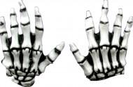 Guanti scheletro adulti Halloween