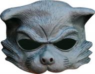 Mezza maschera gatto grigio adulto