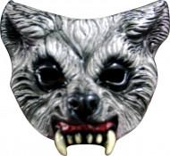 Mezza maschera lupo feroce adulto Halloween