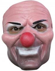 Maschera clown malefico con naso rosso adulto