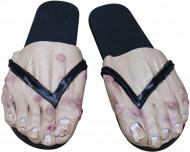 Copriscarpe piede uomo adulto nero Halloween