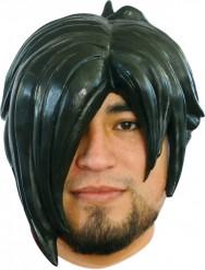 Parrucca manga nera adulto uomo