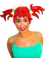 Parrucca manga rossa adulto donna