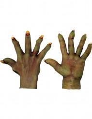 Guanti mostro verde adulto Halloween
