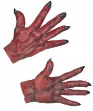 Guanti diavolo rosso adulto Halloween