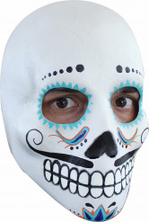 Maschera viso bianco adulto uomo colorata Halloween