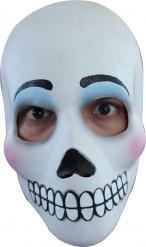 Maschera viso bianco adulto donna Halloween