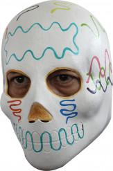 Maschera bianca adulto colorata Halloween