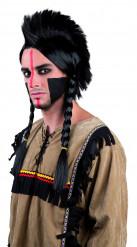 Parrucca indiano con trecce adulto