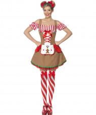 Costume panpepato adulto Natale donna