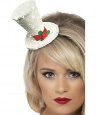 Mini cappello bianco Natale adulto