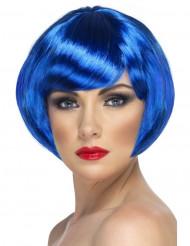 Parrucca corta blu adulto donna