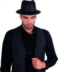 Cappello gangster adulto nero