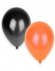 50 palloncini neri e arancioni Halloween