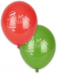 4 palloncini decorazione natalizia