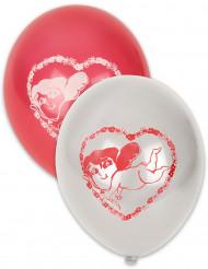 10 palloncini rossi e bianchi Cupido