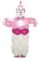 Kit clown magico rosa