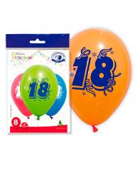 8 palloncini per i 18 anni