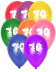 8 palloncini numero 70