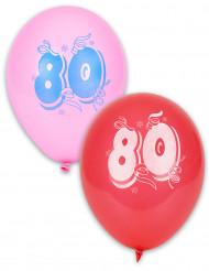 8 palloncini compleanno 80 anni