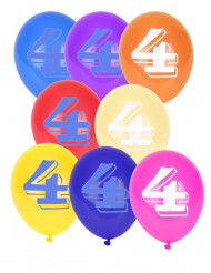 8 palloncini numero 4