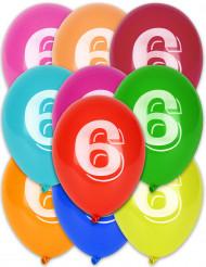 8 palloncini numero 6