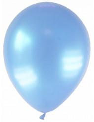 12 palloncini azzurro metallizzato