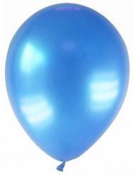 12 palloncini blu metallizzato