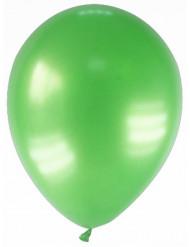 12 palloncini verde metallizzato
