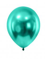 12 palloncini verde scuro metallizzato