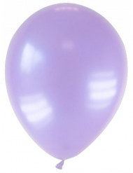 12 palloncini lavanda metallizzati