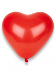 8 palloncini cuori rossi