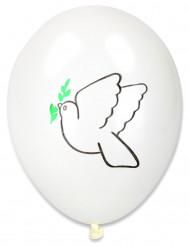 10 palloncini colomba della pace