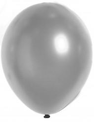 100 palloncini metallizzati argentati 29 cm