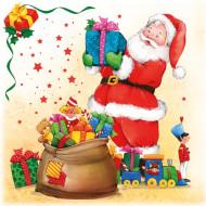 Confezione di 20 tovaglioli con Babbo Natale