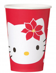 Bicchieri di carta Hello Kitty™ in rosso