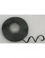 Rotolo di rafia nero con filo metallico 10 metri