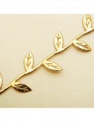 Ghirlanda con foglie dorate