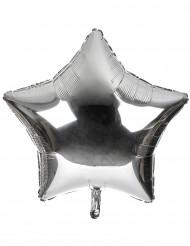 Palloncino alluminio gigante stella argentata 80 cm